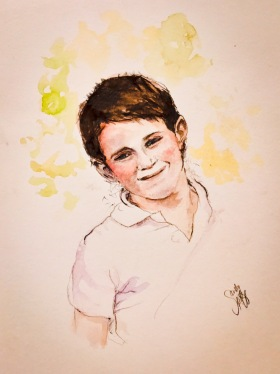 Tom - water colour and graphite