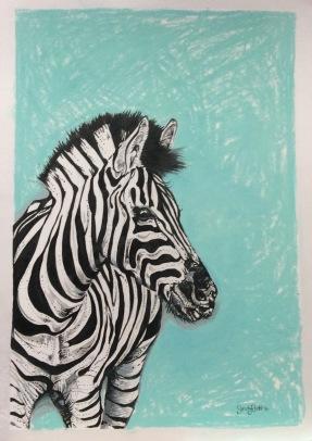 A zebra - ink