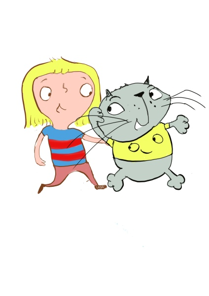 Jessie and Happy Cat - from Jessie and the Scaredy Cat Brian by Dr Allison Waters